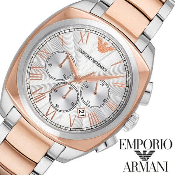 EMPORIO ARMANI エンポリオアルマーニ men's メンズ 腕時計 ピンクゴールド ステンレス うでどけい