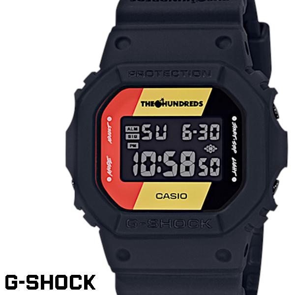 【店内全品ポイント2倍!!】【送料無料 あす楽対応】G-SHOCK ジーショック 腕時計 うでどけい メンズ men's レディース Ladies デジタル DW-5600HDR-1 THE HUNDREDS