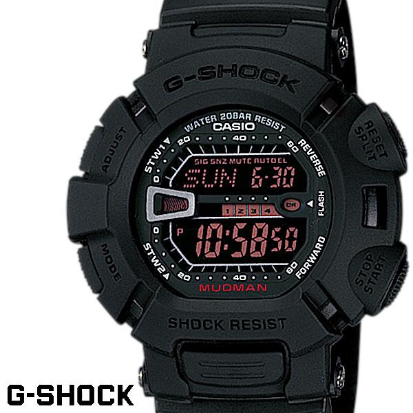 【店内全品ポイント2倍!!】G-SHOCK ジーショック 腕時計 メンズ MUDMAN MEN IN RUSTY BLACK マッドマン G-9000MS-1 ブラック