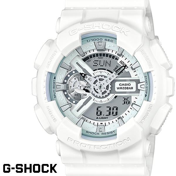 CASIO G-SHOCK ジーショック メンズ 腕時計 GA-110LP-7A パンチング パターン シリーズ 白 ホワイト