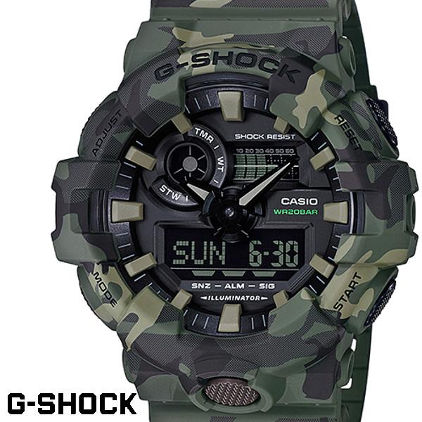 CASIO G-SHOCK ジーショック カシオ Gショック メンズ 腕時計 GA-700CM-3A カモフラージュ 迷彩 グリーン