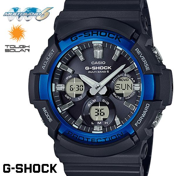 CASIO G-SHOCK 電波ソーラー GAW-100B-1A2 Gショック アナログ デジタル 腕時計 メンズ ブラック 電波 ソーラー カシオ