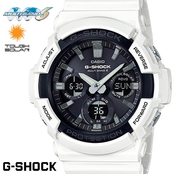 CASIO G-SHOCK 電波ソーラー GAW-100B-7AJF Gショック アナログ デジタル 腕時計 メンズ ブラック ホワイト 電波 ソーラー カシオ