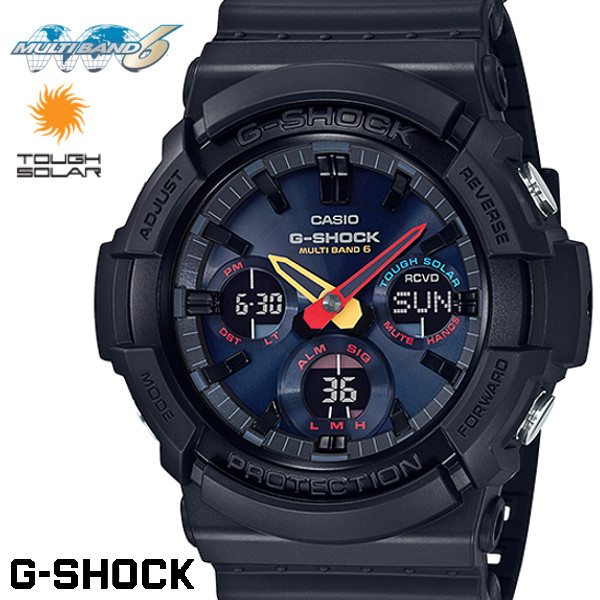 CASIO G-SHOCK 電波ソーラー GAW-100BMC-1A Gショック アナログ デジタル 腕時計 メンズ ブラック ネオン 電波 ソーラー カシオ