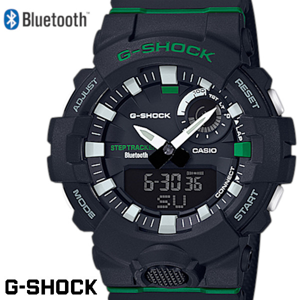 【店内全品ポイント2倍!!】CASIO G-SHOCK ジーショック メンズ 腕時計 G-SQUAD ジー・スクワッド Bluetooth ブラック GBA-800DG-1AJF