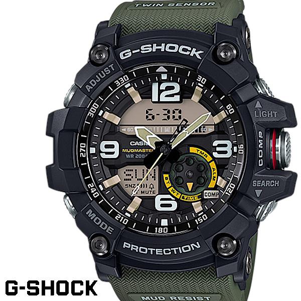 【店内全品ポイント2倍!!】CASIO G-SHOCK ジーショック メンズ 腕時計 GG-1000-1A3JF MUDMASTER マッドマスター MASTER OF G マスターオブG カーキ グリーン 緑