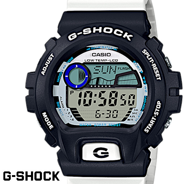 CASIO G-SHOCK ジーショック メンズ G-LIDE Gライド 腕時計 GLX-6900SS-1 タイドグラフ ブラック ホワイト