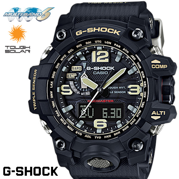 【店内全品ポイント2倍!!】CASIO G-SHOCK ジーショック メンズ 腕時計 電波ソーラー MUDMASTER マッドマスター GWG-1000-1A ブラック