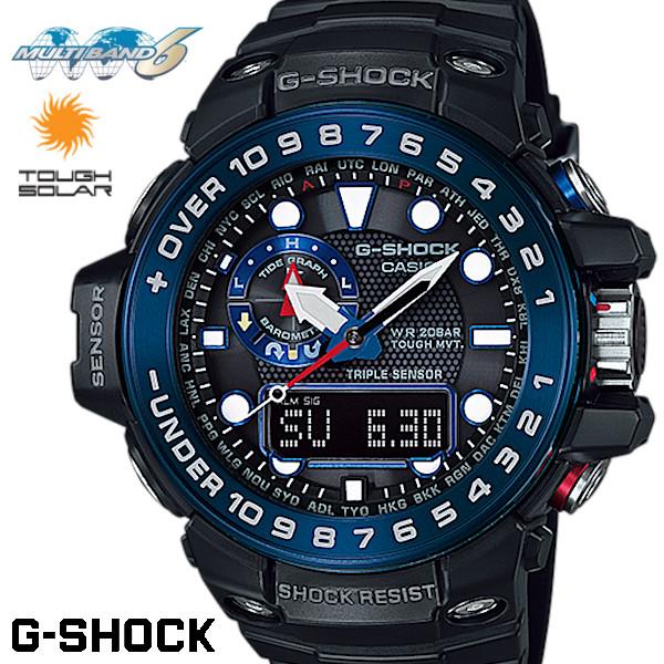 half off 3ca6f 13d39 G-SHOCK 電波ソーラー GULFMASTER ガルフマスター ジーショック GWN-1000B-1B トリプルセンサー g−shock メンズ  腕時計 うでどけい|GROSS
