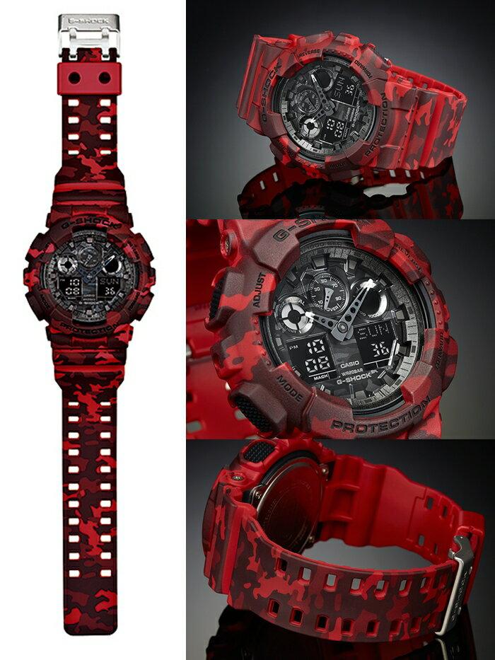 赤色の腕時計で個性アップ