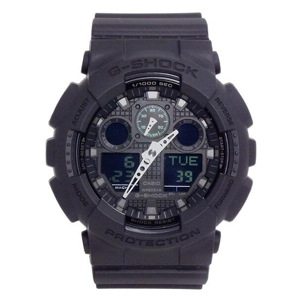 CASIO G-SHOCK カシオ Gショック GA-100MB-1A ミリタリーブラック 腕時計