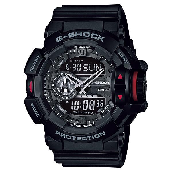 【店内全品ポイント2倍!!】CASIO G-SHOCK ジーショック メンズ 腕時計 GA-400-1BJF ブラック×レッド