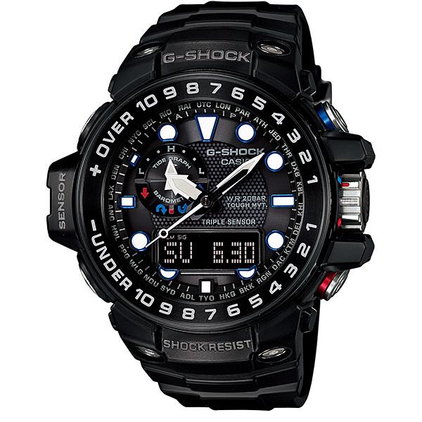 【店内商品ポイント2倍!!】CASIO G-SHOCK ジーショック メンズ 腕時計 GWN-1000B-1AJF GULFMASTER ガルフマスター 電波ソーラー ブラック