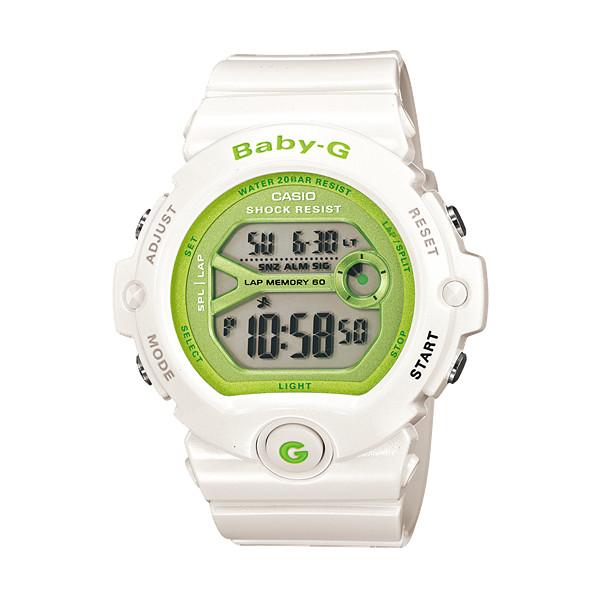 CASIO/BABY-G/カシオ ベビーG デジタル ランニングウォッチ 腕時計 うでどけい レディース LADIE'S ホワイト グリーン BG-6903-7JF