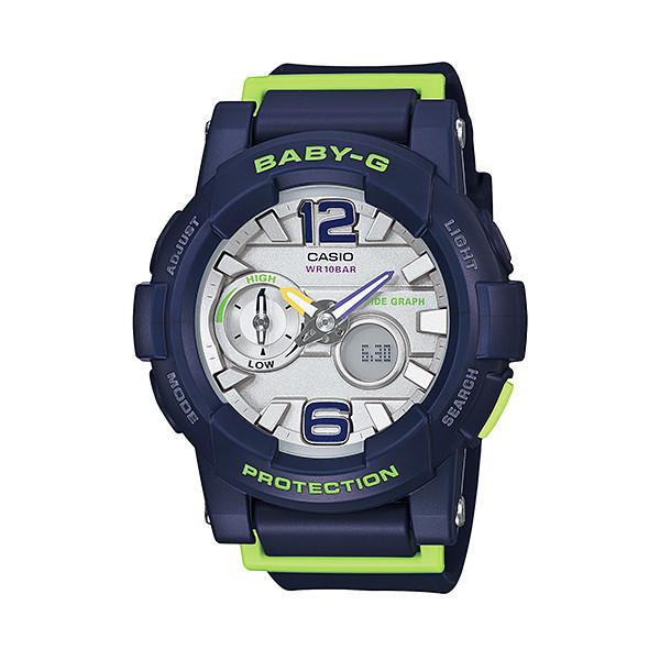 CASIO/BABY-G/カシオ ベビーG G-LIDE Gライド クオーツ 腕時計 うでどけい レディース LADIE'S シルバー ネイビー BGA-180-2BJF