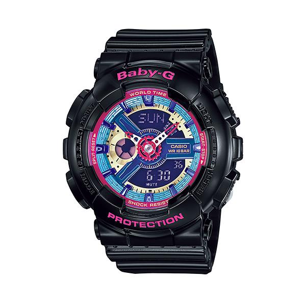 CASIO/BABY-G/カシオ ベビーG アナデジ クオーツ 腕時計 うでどけい レディース LADIE'S ブラック ブルー BA-112-1A