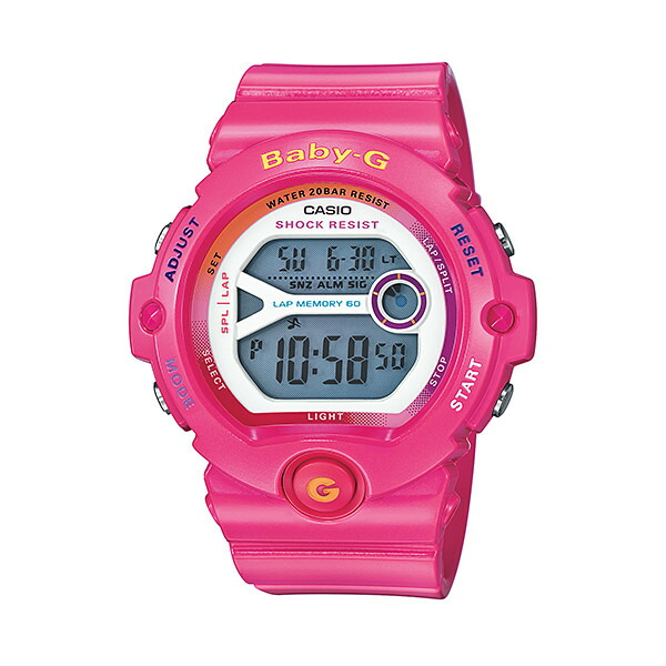CASIO/BABY-G/カシオ ベビーG フォー・ランニング スポーツウォッチ 腕時計 うでどけい レディース LADIE'S ピンク BG-6903-4BJF