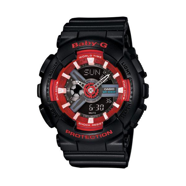 CASIO/BABY-G/カシオ ベビーG クオーツ 腕時計 うでどけい レディース LADIE'S ブラック レッド BA-110SN-1AJF
