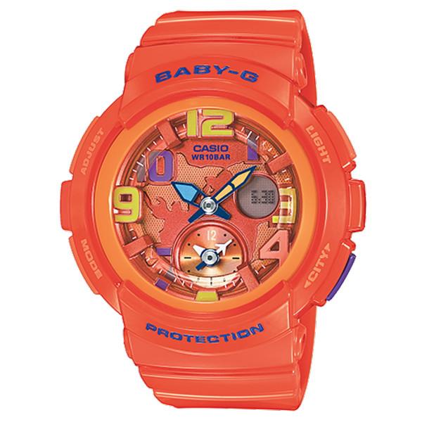 CASIO/BABY-G/カシオ ベビーG ビーチトラベラーシリーズ クオーツ 腕時計 うでどけい レディース LADIE'S オレンジ BGA-190-4BJF