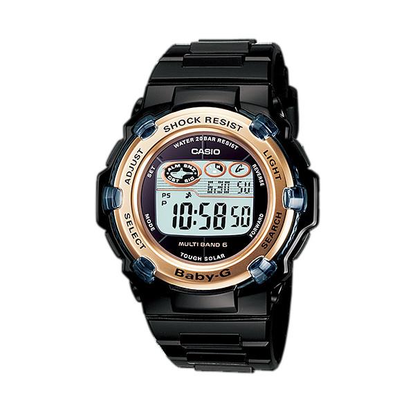 CASIO/BABY-G/カシオ ベビーG リーフ 電波ソーラー 腕時計 うでどけい レディース LADIE'S ブラック BGR-3003-1JF