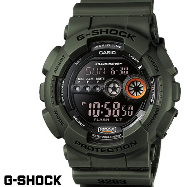 G-SHOCK ジーショック メンズ 腕時計 GD-100MS-3 ミリタリー ワールドタイム ブラック カーキ うでどけい メンズ G-SHOCK