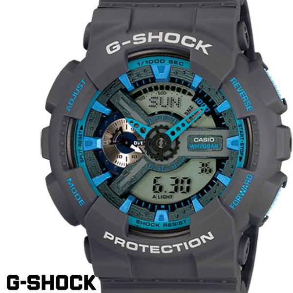 【店内全品ポイント2倍!!】G-SHOCK ジーショク GA-110TS-8A2 腕時計 CASIO Gショック G-SHOCK デジタル アナログ メンズ デジアナ クロノグラフ ブルー ブラック