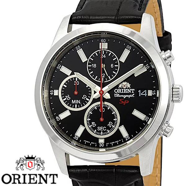 【店内全品ポイント2倍!!】ORIENT オリエント FKU00004B0 クロノグラフ メンズ 腕時計 ブラック