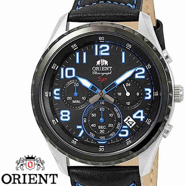 【店内全品ポイント2倍!!】ORIENT オリエント FKV01004B0 クロノグラフ メンズ 腕時計 ブラック