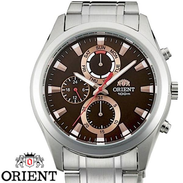 【店内全品ポイント2倍!!】ORIENT オリエント FUY07002T0 メンズ 腕時計 ブラウン
