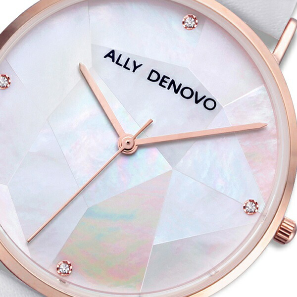 ALLY DENOVO アリーデノヴォ GAJA PEARL ガジャパール 腕時計 うでどけい レディース 36mm レディース パール 真珠 本革 レザー