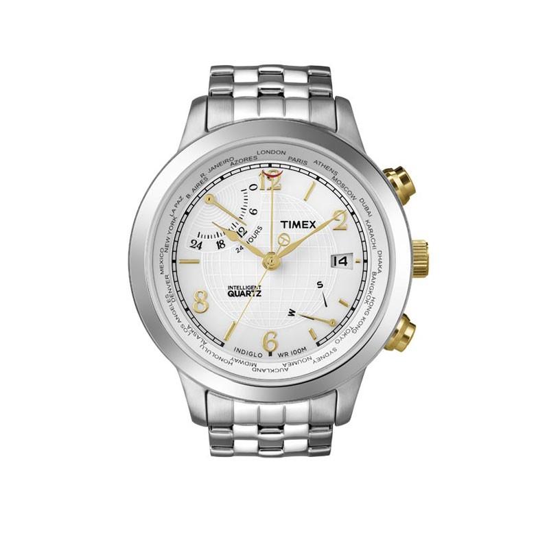 【店内全品ポイント2倍!!】【タイメックス】【TIMEX】 腕時計 メンズ 腕時計 インテリジェントクォーツ ワールドタイム T2N613 Men's うでどけい メンズ 腕時計