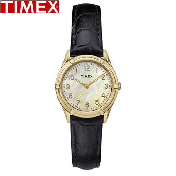 TIMEX/タイメックス/イーストンアベニュー EASTON AVENUE クオーツ 腕時計 レディース腕時計 ブラック ゴールド パール レザー TW2P76200 レディース
