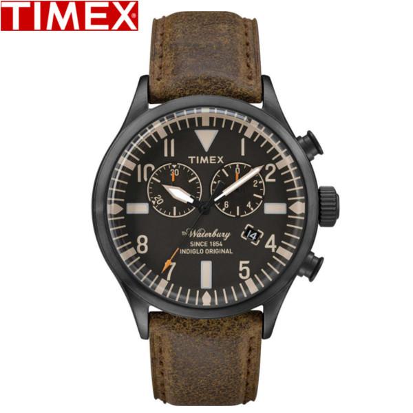 TIMEX/タイメックス/ウォーターベリー クロノグラフ 腕時計 TW2P64800 ブラウン ブラック