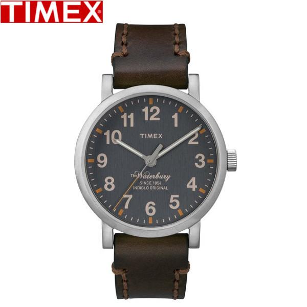 TIMEX/タイメックス/ウォーターベリー クォーツ 腕時計 メンズ時計 レザー TW2P58700 グレー ダークブラウン