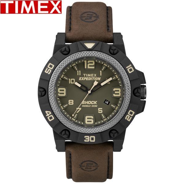 TIMEX/タイメックス/TW4B01200 エクスペディション フィールドショック クオーツ レザー メンズ Men's ブラウン
