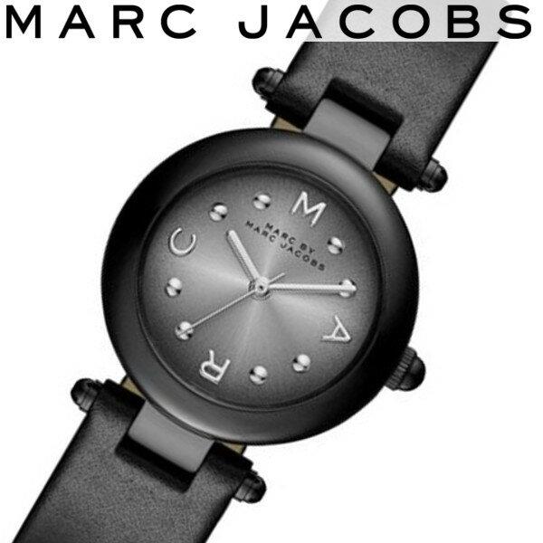 【店内全品ポイント2倍!!】【送料無料/あす楽】MARC JACOBS マークジェイコブス 腕時計 レディース レザー ブラック MJ1415
