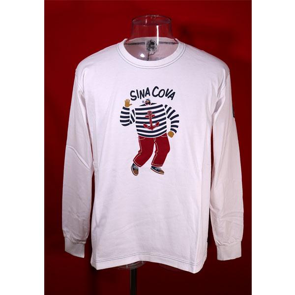 新作 大人気 シナコバ 40%OFF 希少 SINA COVA Guest-One 白-kb118 コラボTシャツ キングサイズ 限定品 長袖Tシャツ