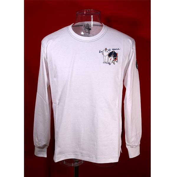 ★シナコバ<40%OFF・SINA COVA & Guest-One コラボTシャツ 限定品>長袖Tシャツ<キングサイズ>白-kb129