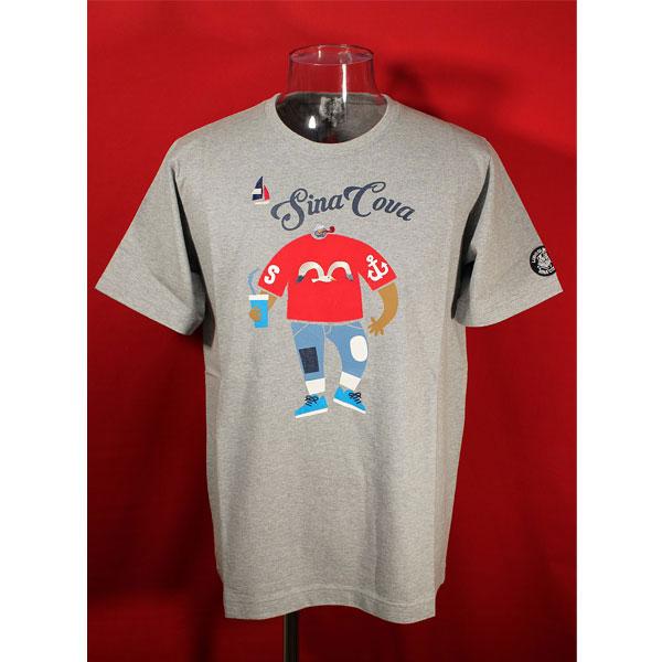 ★シナコバ<33%OFF>春夏半袖Tシャツ<LLサイズ>モクグレー-kd281