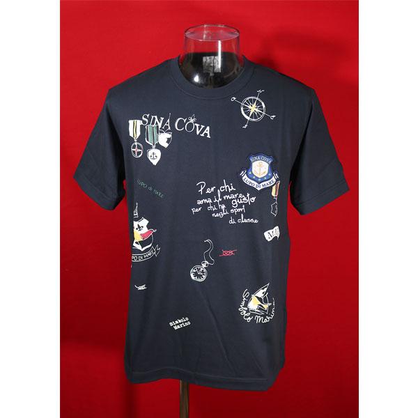 ★シナコバ<2020年新作>春夏半袖Tシャツ<キングサイズ>紺-ke199