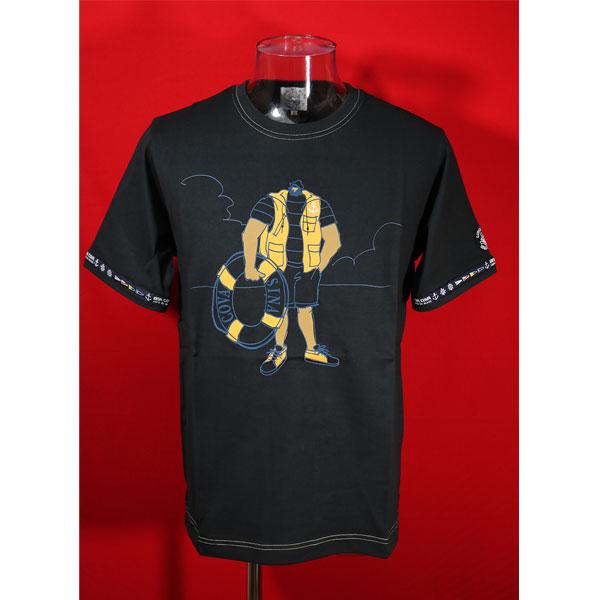 推奨 シナコバ 40%OFF SINA COVA Guest-One 新生活 コラボTシャツ Lサイズ 黒-kf131 春夏半袖Tシャツ 限定品