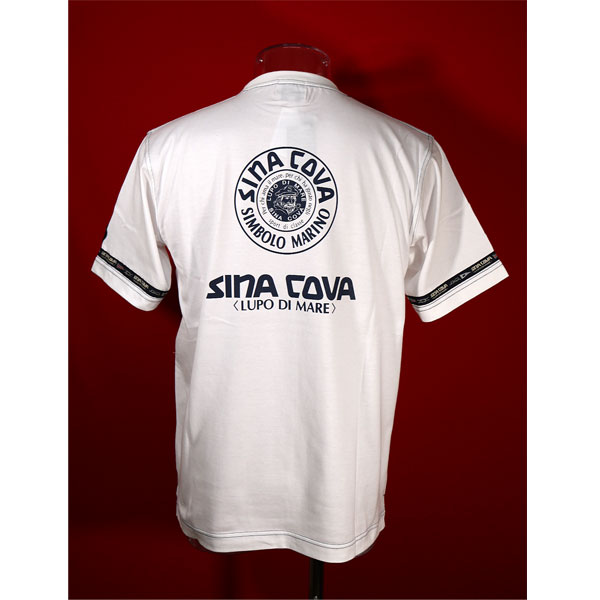 ★シナコバ<30%OFF・SINA COVA & Guest-One コラボTシャツ 限定品>春夏半袖Tシャツ<キングサイズ>白-kg31