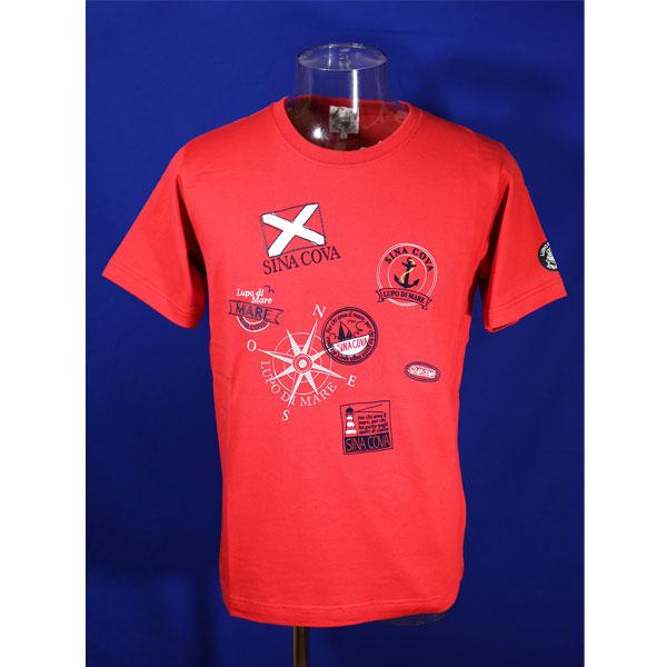 シナコバ 40%OFF 春夏半袖Tシャツ 蔵 メーカー在庫限り品 Mサイズ 赤-kh181