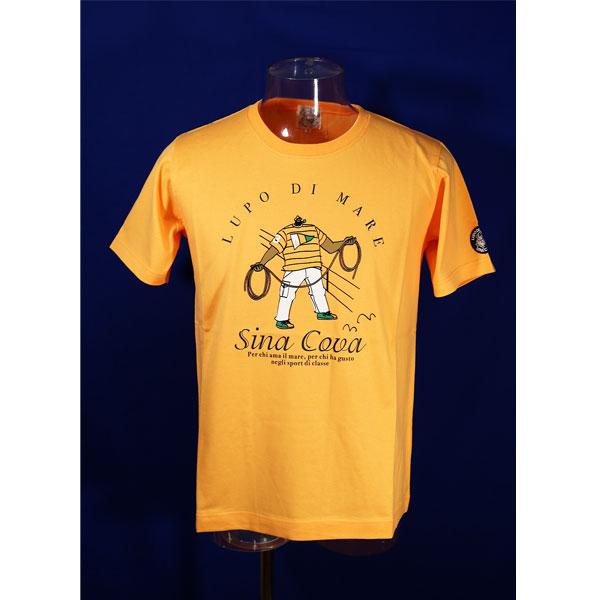 シナコバ オンラインショップ 40%OFF 驚きの値段 春夏半袖Tシャツ オレンジ-kh220 Mサイズ