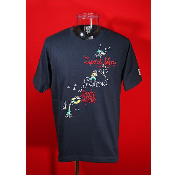 シナコバ 2021年 新作 30%OFF 毎日続々入荷 春夏半袖Tシャツ 上質 LLサイズ 紺-kp84