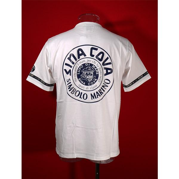 シナコバ 30%OFF SINA COVA Guest-One 白-kr80 新色追加 コラボTシャツ 限定品 春夏半袖Tシャツ 超歓迎された Lサイズ