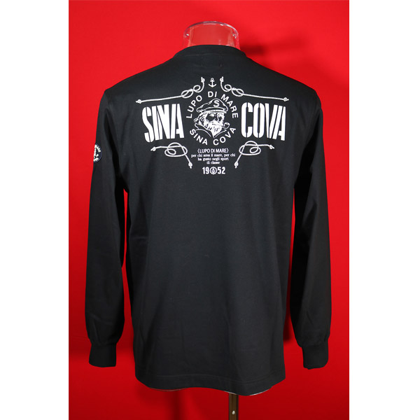 シナコバ 30%OFF SINA COVA セール Guest-One 即出荷 秋冬長袖Tシャツ 限定品 LLサイズ 黒-kt45 コラボTシャツ