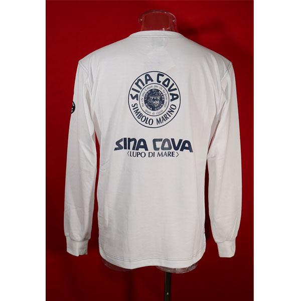 公式サイト シナコバ 30%OFF SINA COVA Guest-One 秋冬長袖Tシャツ 白-ow3 コラボTシャツ 買収 限定品 Lサイズ