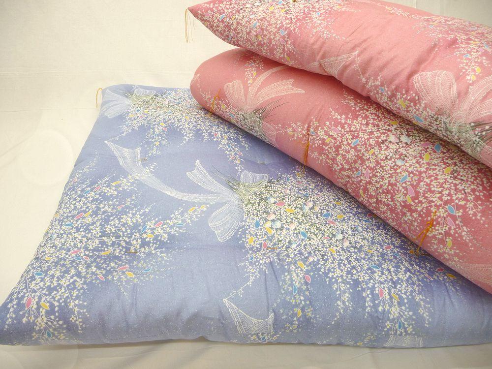 2枚組 2枚セット ふとん職人手作り 一枚づつ丁寧に作る綿ふとん 綿100% 敷き布団 シングル 100×200cm 送料無料 100×200 S s用 わたふとん 綿ふとん 綿敷布団 綿布団 ブルー プリントサテン