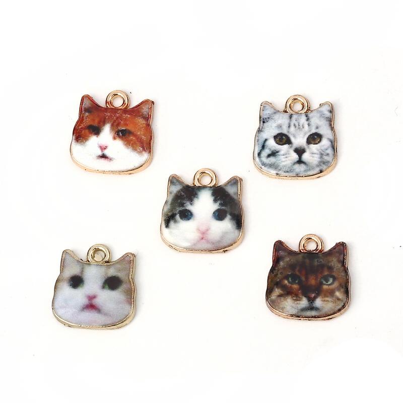 リアルでキュートな猫の顔 ネコ好きさん注目 ねこマニア 可愛すぎる猫フェイスチャーム 保証 ハッピーエイト 買取 天然石ジュエリーのお店 20個入 単価50円